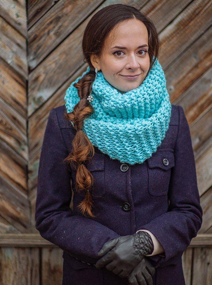 что вязаные шарфы снуды фото и схемы признаки
