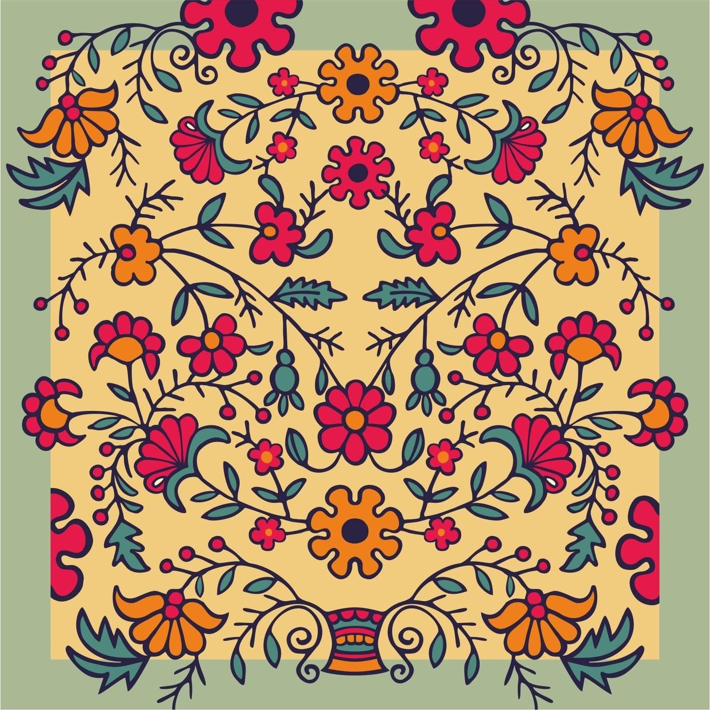 Купить ткань татарский орнамент купить клеевую ткань флизелин
